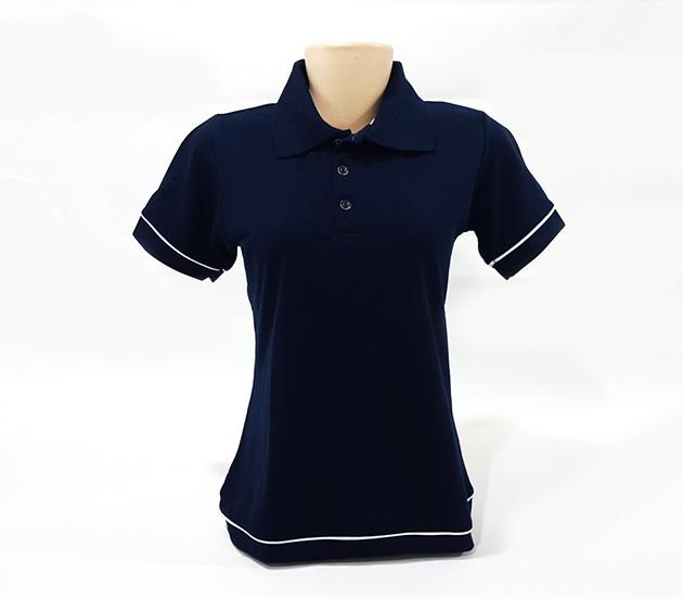 87243ba3a6130 Camisa Polo Feminina - Baby Look com Detalhes