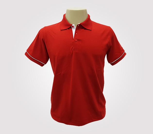 Camisa Polo Masculina - Com Detalhes em Branco 28b4affcceb15