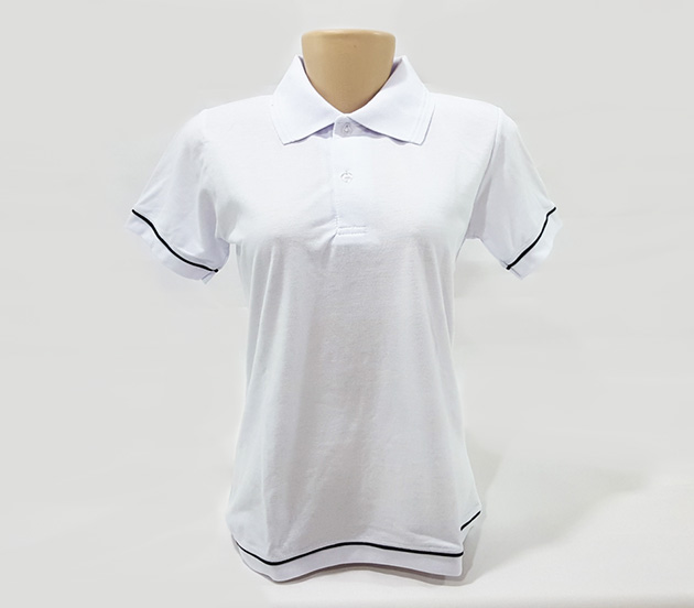 Camisa Polo Feminina - Baby Look com Detalhes 7aad2784e30